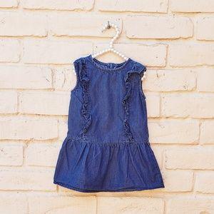 Baby Gap Girls Denim Ruffled Dress